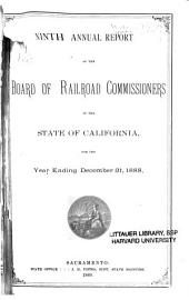 Annual Report of the Board of Railroad Commissioners of the State of California: Volume 9