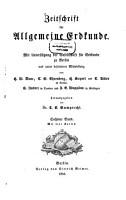 Zeitschrift f  r allgemeine Erdkunde PDF