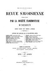 Revue savoisienne: Volumes17à19