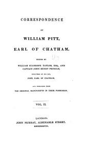 Correspondence of William Pitt, earl of Chatham: Volume 2
