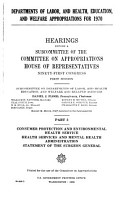Departments of Labor and Health  Education  and Welfare Appropriations for 1970 PDF