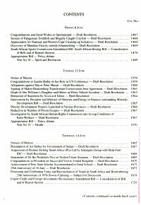 Debates of the National Council of Provinces  Hansard  PDF