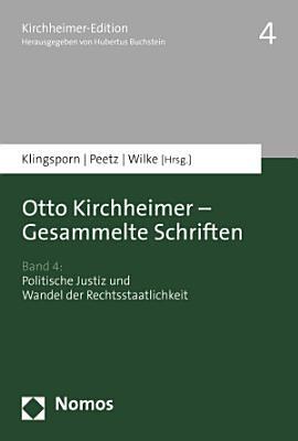 Otto Kirchheimer   Gesammelte Schriften PDF