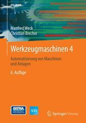 Werkzeugmaschinen 4: Automatisierung von Maschinen und Anlagen, Ausgabe 6