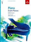 Piano Exam Pieces 2019   2020 Grade 1