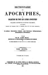 Dictionnaire des Apocryphes, ou Collection de tous les Livres Apocryphes relatifs a l'Ancien et au Nouveau Testament (etc.): T.S.23-24 : Dictionnaire des Apocryphes ; 1-2, Volume24
