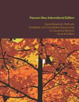Social Research Methods  Pearson New International Edition PDF