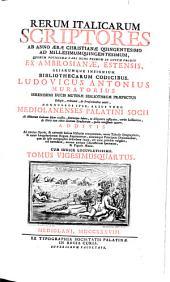 Rerum italicarum Scriptores: Volume 24