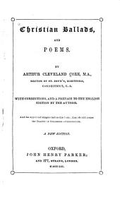 Christian Ballads, and Poems