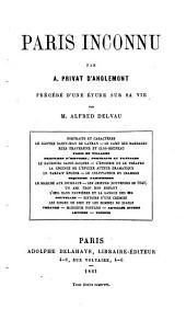 Paris inconnu par A. Privat d'Anglemont