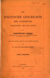 Die politische Geschichte des Altertums verglichen mit der neuen, übers. von C. von Reinhardstoettner. Lief. 1