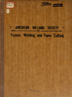 Tentative Code for Fusion Welding and Flame Cutting in Machinery Construction