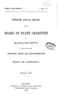 Annual Report of the Board of State Charities of Massachusetts PDF