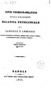 Cenni teorico-pratico sulla grassante malattia petecchiale di Gabriele D'Ambrosio