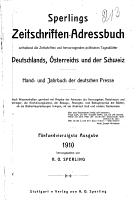 Sperlings Zeitschriften Adressbuch PDF