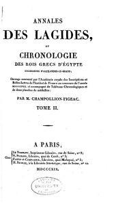 Annales des Lagides: ou, Chronologie des rois grecs d'Égypte, successeurs d'Alexandre-le-Grand, Volume2