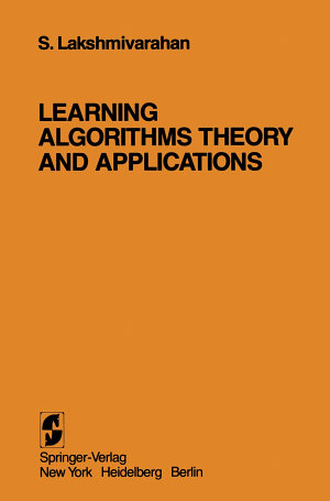 Learning Algorithms Theory and Applications