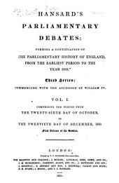 The Parliamentary Debates