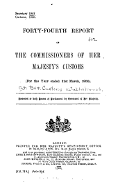 Report of the Commissioners: Volumes 44-50