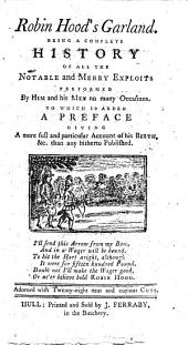 The English Archer, or Robin Hood's Garland. The editor's preface signed: S- M-.