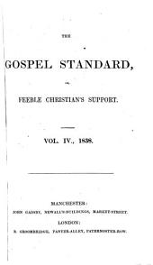 The Gospel Standard, Or, Feeble Christian's Support: Issue 4