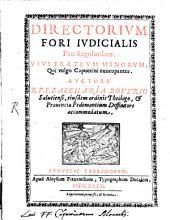 Directorium fori judicialis pro Regularibus usui F. F. Minor. qui vulgo Capuccini nuncupantur