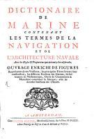 Dictionnaire de Marine PDF