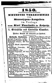 Catulli, Tibulli et Propertii Carmina. Ad praestantium librorum lectiones accurate recensuit C(arl) H(ermann) Weise. Nova ed. stereotypa
