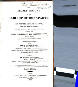 The Secret History of the Cabinet of Bonaparte     Second Edition PDF