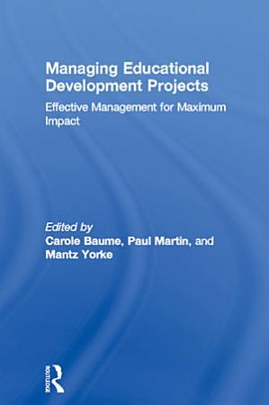 Managing Educational Development Projects PDF