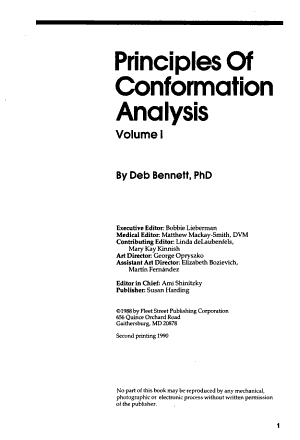 Principles of Conformation Analysis