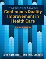 McLaughlin   Kaluzny s Continuous Quality Improvement in Health Care PDF