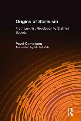 The Origins of Stalinism PDF