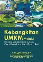 Kebangkitan UMKM Melalui Inovasi Geoproduk Berbasis Geodiversity   Kearifan Lokal PDF