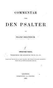 Commentar über den Psalter: Band 2