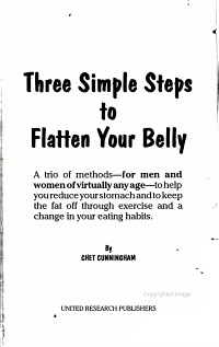 Three Simple Steps to Flatten Your Belly