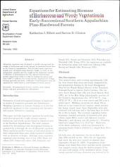 Equations for estimating biomass of herbaceous and woody vegetation in early-successional southern Appalachian pine-hardwood forests