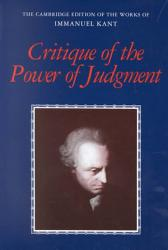 Critique Of The Power Of Judgment Book PDF