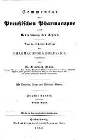 Commentar zur preussischen Pharmacopoe: nebst übersetzung des textes