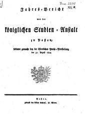 Jahresbericht über die Königl. Studienanstalt in Passau: für das Studienjahr .... 1811/12 (1812)