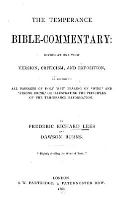 The Temperance Bible commentary PDF