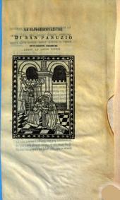 La rappresentazione di san Panuzio nuovamente stampata