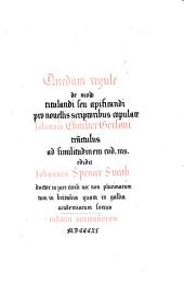 Quedam regule de modo titulandi seu apificandi pro novellis scriptoribus copulate