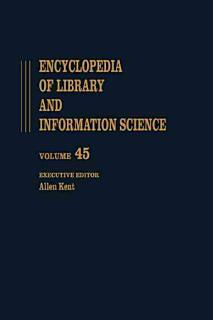 Encyclopedia of Library and Information Science Book