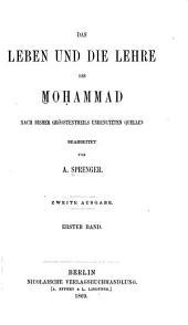 Das Leben und die Lehre des Moḥammad: Band 1