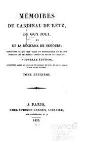 Mémoires du cardinal de Retz, de Guy Joli, et de la duchesse de Nemours: Mémoires de Retz (cont'd)