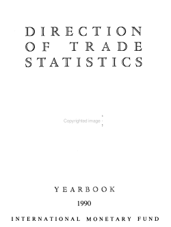 Direction of Trade Statistics  Yearbook PDF