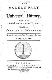 An Universal History, from the Earliest Account of Time: Volume 58