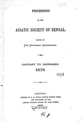 Proceedings of the Asiatic Society of Bengal PDF