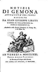 Notizie di Gemona antica città del Friuli